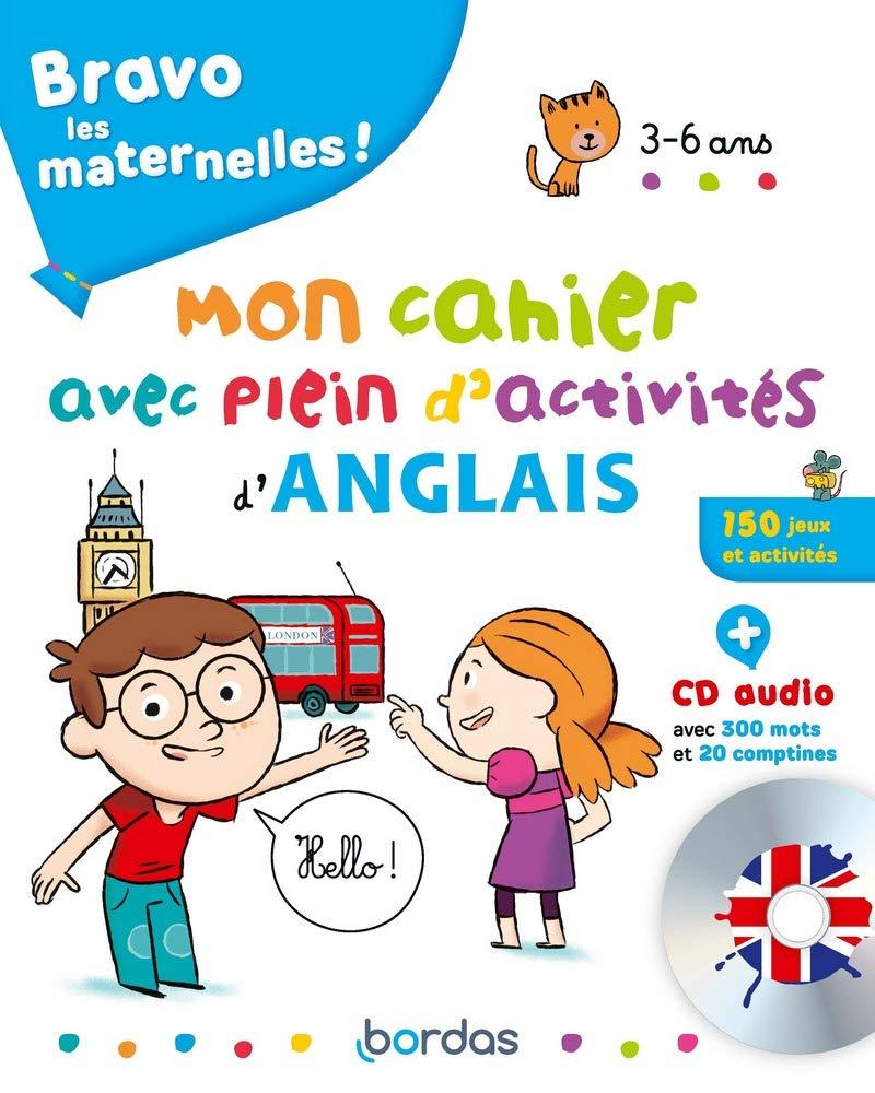 Cahier  d'activités en anglais + CD audio  pour les 3 à 6 ans